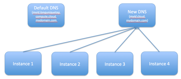 Figure 2. Instances Point to an Alternative DNS-in-the-Cloud