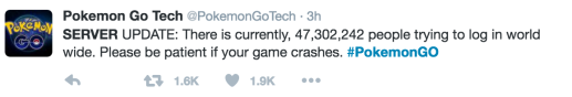 Pokemon Go Crash of 2016
